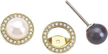 ELENA KREIGNER 18K Gold, Pearl & Diamond Interchangeable Earrings