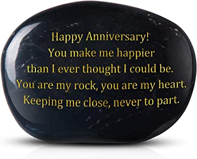 Cleaky Happy Anniversary! You Make me Happier Than I Ever Thought I Could be. You are My Rock, You are My Heart. Keeping me Close, Never to Part. Engraved Rock