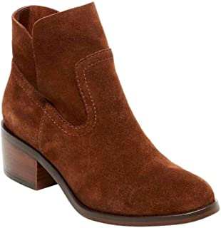 Steve Madden Womens Leo Leather Almond Toe Ankle Fashion, Brown Suede, Size 8.5