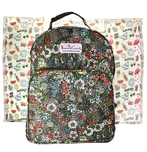 Sweet Candy Rucksack für Damen, lässig, wasserdicht, 2 Stück, Rucksack + Tasche, Jugendliche, Strand, Reise, Strand, Camping, Sport, Einkaufen...