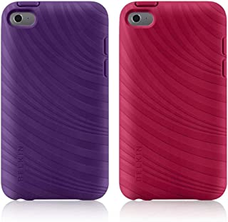 Belkin Essential 023 Case for Apple iPod Touch 4th Generation, 2 Pack -Purple Lightning/Paparazzi Pink