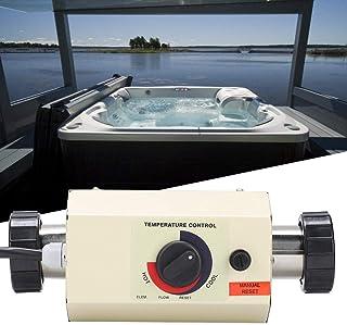 Pangding Calentador de Agua Termostato 3KW Mini Calentador Piscina Calentador de Agua Piscina Thermotank para Piscina Bañe...