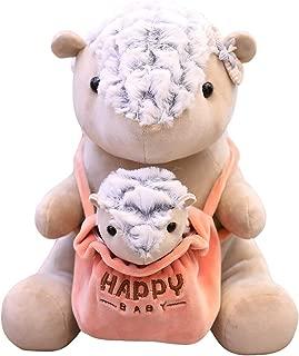 Cuddly Big Soft Toys Mom Baby Pangolin Doll, Plush Pangolin Stuffed Animals Toy Cushion Doll, 10