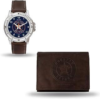 MLB Men's Watch and Wallet Set (Brown)