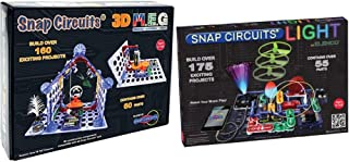 Snap Circuits - 3D M.E.G. Electronics Discovery Kit & Light Electronics Exploration Kit | Over 175 Exciting STEM Projects ...