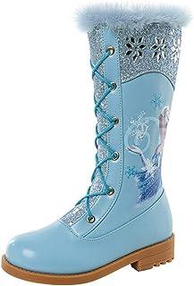 LOBTY Filles Chaussures De Neige Princesse Chaussures Bottes Enfants Bottes D'hiver Avec Des Bottes En Caoutchouc Doublées...