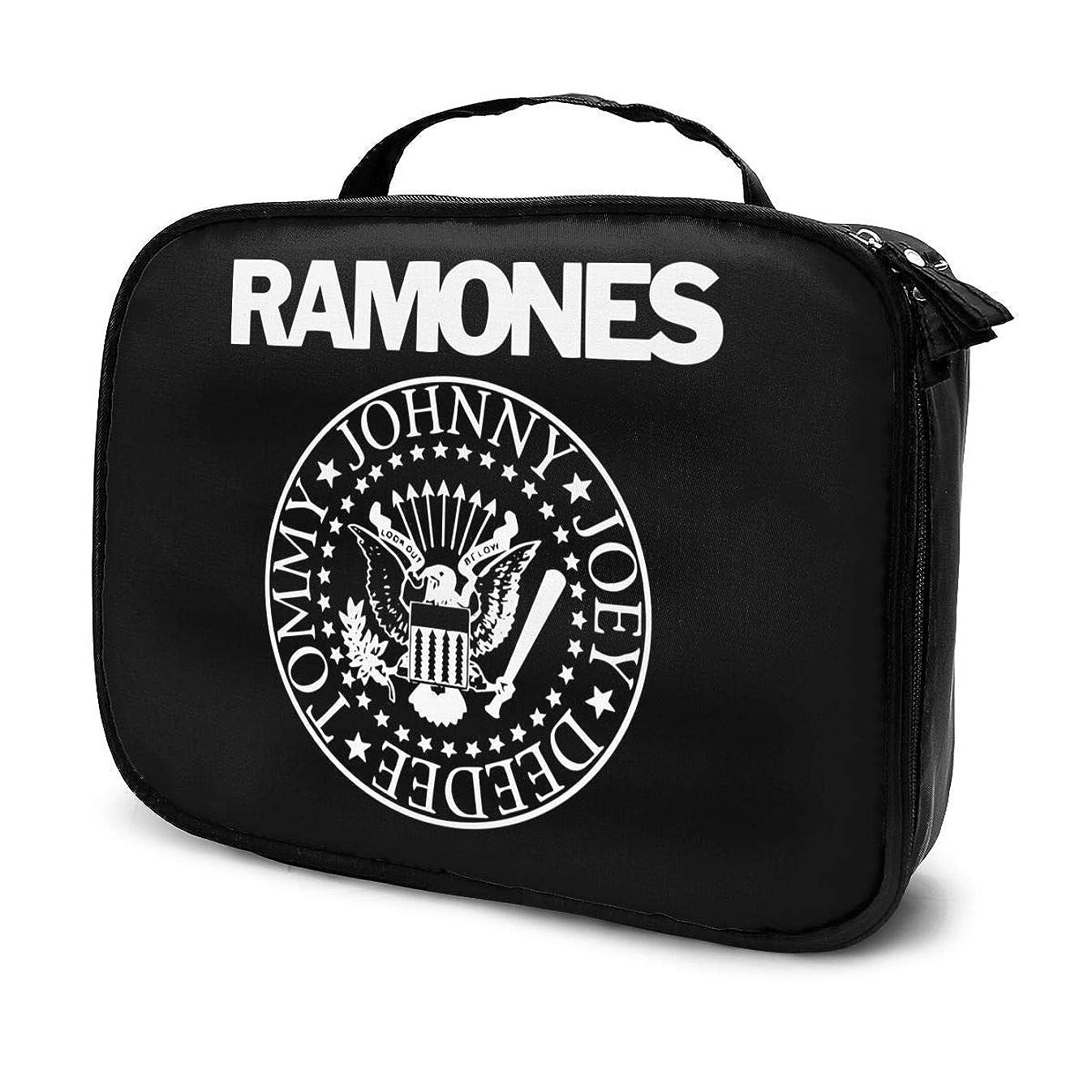 と組む最終的にメジャーメイクボックス プロ用 Ramones ラモーンズ メイクポーチ 化粧ポーチ コスメケース トイレタリーバッグ トラベルポーチ 旅行外出 携帯用 防水設計 高級感 小物収納 バッグインバッグ グッズ レディース メンズ
