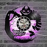 wtnhz LED Reloj de Pared de Vinilo Colorido Disco de Vinilo LED Reloj de Pared diseño Moderno 3D Dibujos Animados Creativo CD Registro Reloj de Pared Reloj de Pared decoración del hogar