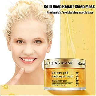 ErYao Anti Toxin Anti Facial Sleeping Mask, 24K Gold Facial Firm Skin Overnight Facial Mask, Hyaluronic Water Sleeping Mask Anti Aging Time Freeze Face Mask Gel Deep Moisturizer