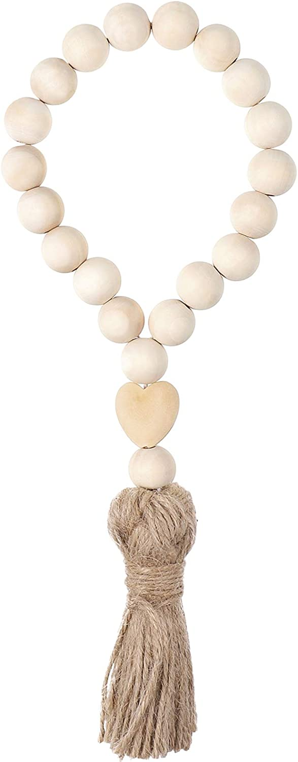 Ranking TOP18 Regular discount IMIKEYA Farmhouse Beads Wood Bead with Tassels Country Garland D