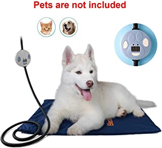 100% Safe Solid Electric Pet Heating Mat Blanket Heated Large Cat Dog Heater Pad Bed Waterproof,UK