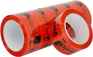 Paketband Klebeband VORSICHT GLAS Extra Stark 50 mm x 66 Meter 6 Rollen