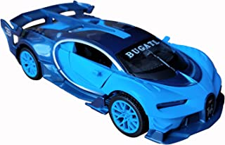 LMOY 1:32 Scale Bugatti Chiron Vision Grand Turismo (GT) Zinc Alloy Pull Back Diecast Toy car Model Collection with Light & Sound (Blue)