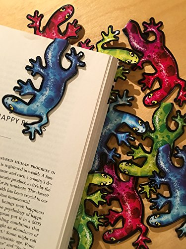 Lizard Bulk Bookmarks (Set of 10) Gecko Animal Bookmarks for Kids Girls Boys Teens. Perfect for Gifts, Student Incentives, Birthday Party Favors, Reading Incentives, Awards and Promotions!