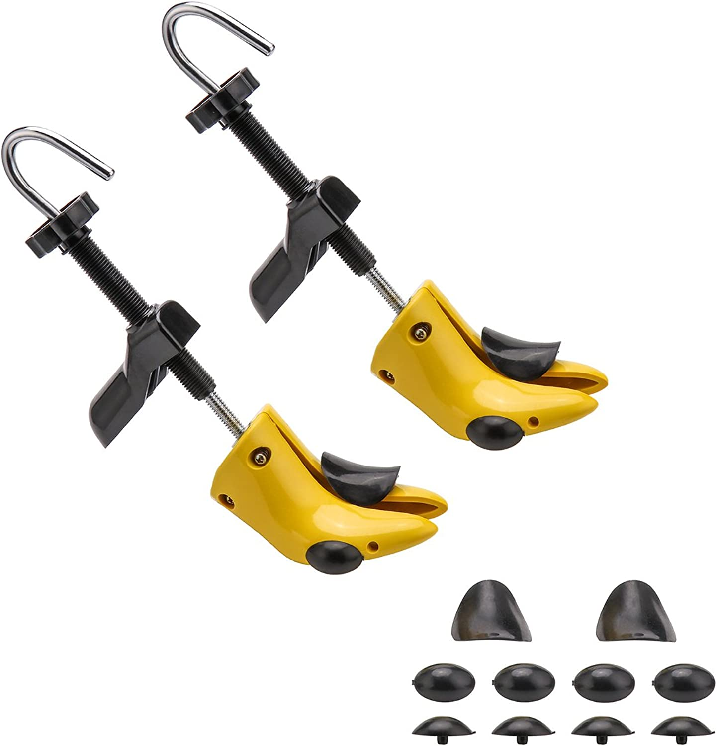 shoes Stretcher with Carrying Bag Pair of Premium Two-Way Tough Plastic shoes Stretchers Adjustable Length and Width Unisex for Men and Women