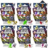 Power Rangers Micro Morphers Figures Blind Bags Party Favors Set ~ Bundle Pack of 6 Power Rangers Mystery Bags, Series 2 (Power Rangers Party Supplies)