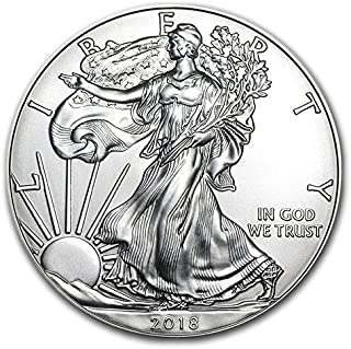 2018-1 Ounce American Silver Eagle .999 Fine Silver Dollar Uncirculated Us Mint