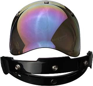 Generic 3-Snap Bubble Shield Visor Rainbow Color Lens For Biltwell Gringo Bonanza Helmet