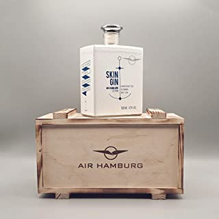 AIR HAMBURG Skin Gin inkl. Holzbox mit Logo   Geschenkbox