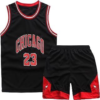 Kids Basketball Jersey, 23 Jersey Jongens Basketbal 2-delige Basketbal Training Mouwloze Jersey en Broek