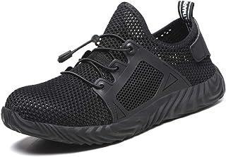 449b3d33 Calzado de Seguridad Hombre Ligero Zapatos de Trabajo S3 Puntera de Acero  Transpirables Zapatos de Industria