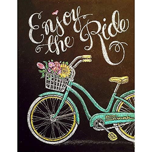 Pintura de diamante 5D para bicicleta y paisajes de punto de cruz DIY bordado de diamantes de dibujos animados con diamantes de imitación completos mosaico flor decoración del hogar regalo 30 x 40 cm