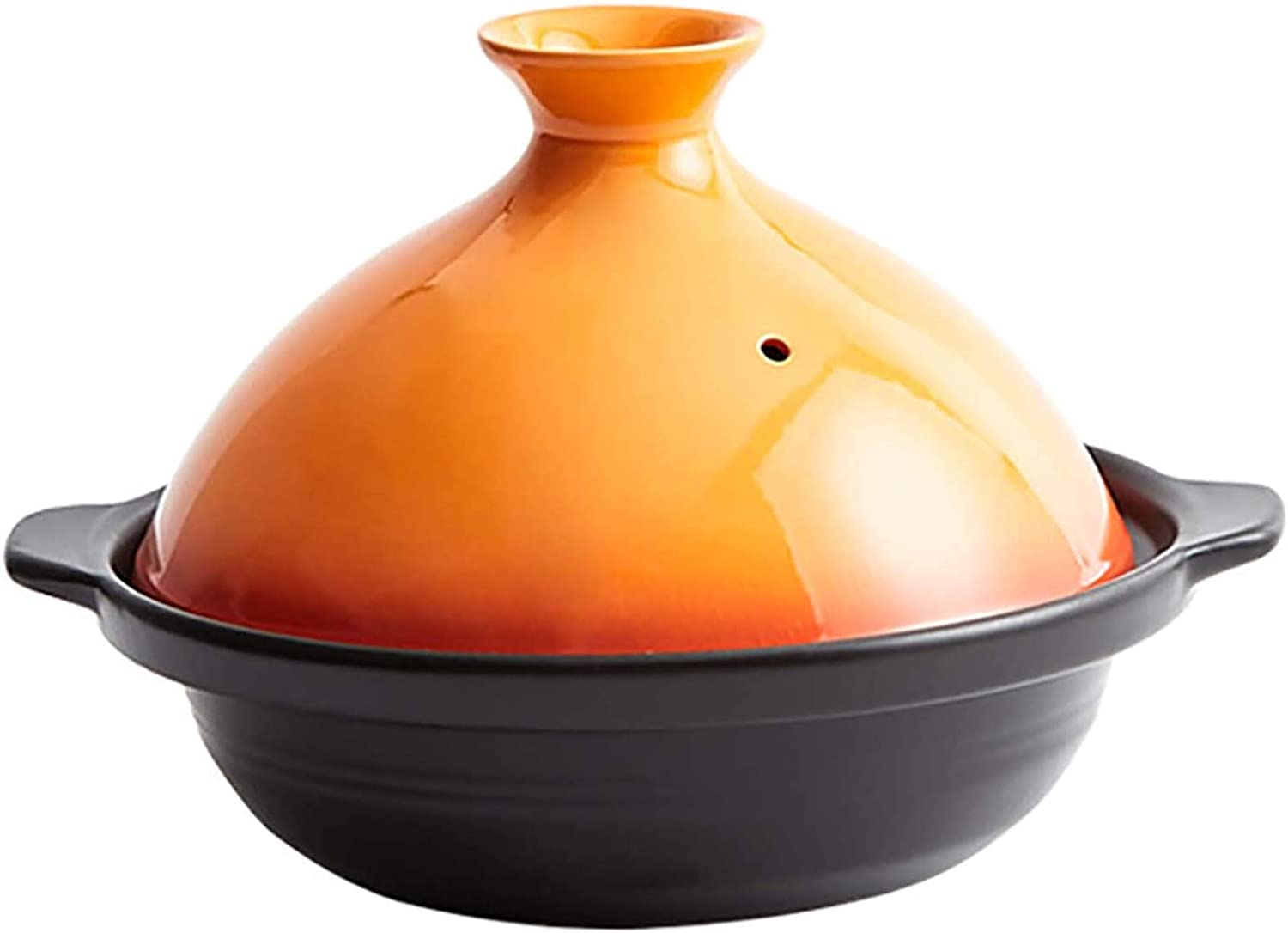 Cooking Tagine Pot, Enameled Cast Iron Moroccan Tagine Cooker Pot with Cone-Shaped Lidfor Different Cooking Styles,0.9L