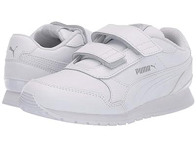Puma Kids ST Runner v2 L V (Little Kid) (Puma White/Gray Violet) Kids Shoes