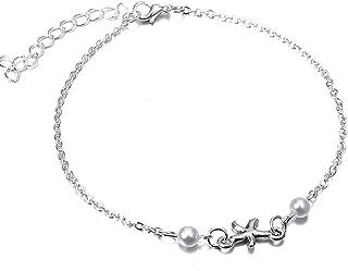 Balalei Vintage Bracelet Foot Jewelry Retro Anklet for Women Girls Ankle Leg Chain Charm Starfish Beads Bracelet Fashion Beach Jewelry