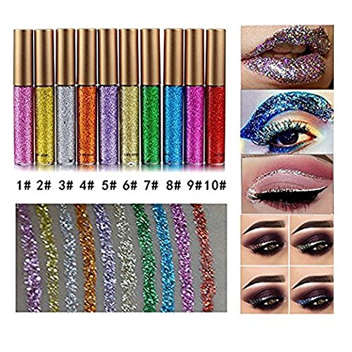 10 Colors Liquid Glitter Eyeliner M…