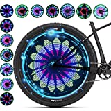 QANGEL Bicycle Spoke Light, 36 LED Lights Display Bright 32 Patterns Full Bike Wheel Change Waterproof(1 Tire)