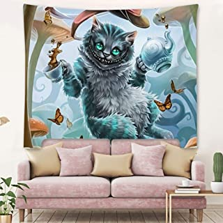 DISNEY COLLECTION Tapestry Cheshire Cat Tapestry for Living Room Bedroom Dorm Home Decor 60 Inch51 Inch