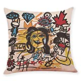 Kaiki Home Décor Kissenbezug Pillowcase Plüsch Fleece Nordischen Stil Colorful Blume Geometric...