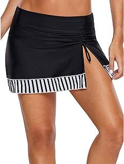 LAUSONS Costumi a Pantaloncini Donna Gonna Vita Alta Gonnellino da Mare con Leggings