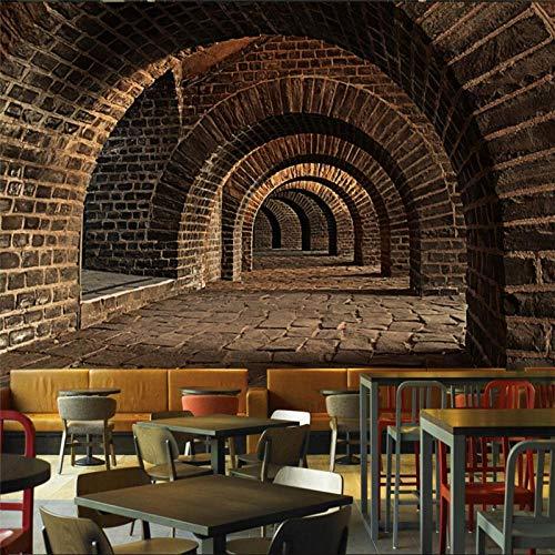 ZJfong Behang 3D U-tunnelkanaal KTV restaurant bar bank slaapkamer woonkamer grote muurschildering behang 140x70cm