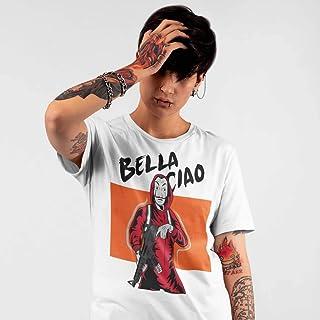 T-Shirt bianca La casa di carta con Dalì e la scritta bella ciao La casa de papel
