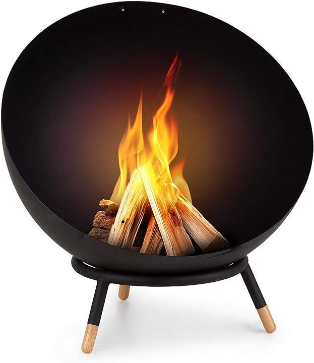 Braciere, Ø 60 cm, inclinabile, in acciaio spesso 3 mm blumfeldt fireball wood GDW27-Fireball Wood