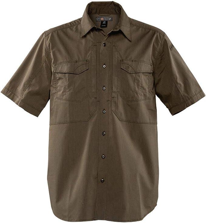 5.11 Tactical Stryke - Camisa de Manga Corta Profesional con Botones para Hombre, Tela Flex TAC, Estilo 71354