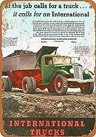 ブリキ看板1935国際トラックグッズウォールアート