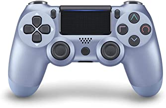 Game Controller for PS4 (Titanium Blue), Dual Vibration Compatible with Windows PC & Android OS, Wireless Bluetooth Contro...