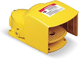 6 Foot Cord 4A Linemaster 971-DC3Y All-Purpose Foot Switch Polymeric Yellow Maintained Operation 2 Prong Output 2 Prong Output 125VAC