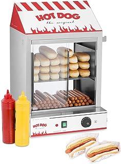 Royal Catering Macchina per Hot Dog a Vapore Macchina Hot Dog Maker RCHW 2000 (2000 W, Capacità: 200 salsicce, 50 panini, ...