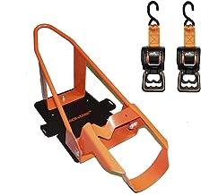 Lock N Load (BK1000 Orange/Black Deluxe Motorcycle Wheel Chock Combo Kit