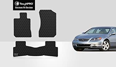 TOUGHPRO Floor Mat Accessories Set Compatible with Acura RL - All Weather - Heavy Duty - (Made in USA) - Black Rubber - 2005, 2006, 2007, 2008 (Front Row + 2nd Row)