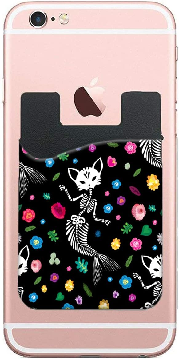 ZXZNC Card Holder for Back Same day shipping Be super welcome of Cat Phone Skull Skeleton Halloween