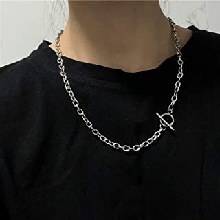 fxmimior Dainty Punk Silver Simple Boho Stackable Layered Necklace Sequins Choker Necklaces Minimalist Necklace Chain Jewe...