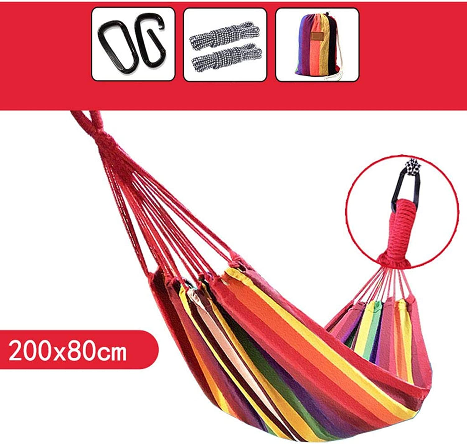 Hammock, Canvas Outdoor Student Bedroom Dorm Room Household Go to Bed Hammock (color   3)