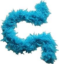 aqua feather boa