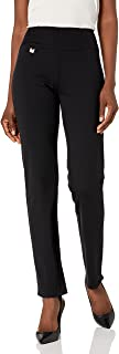 SLIM-SATION Pull On Solid Knit Easy Fit Narrow Leg Pant with Tummy Panel