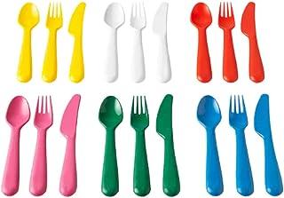 comprar comparacion IKEA KALAS 804.213.32 - Cubertería (plástico, 6 cuchillos, 6 tenedores, 6 cucharas, 3 años, más multicolor